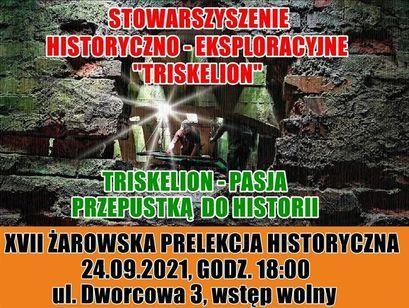 Prelekcja historyczna plakat
