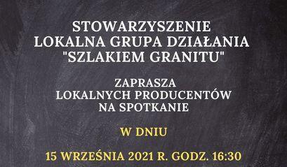 Spotkanie LGD Szlakiem Granitu plakat