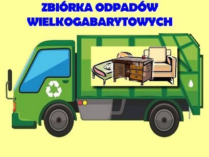 Zbiórka Odpadów wielkogabarytowych zdjęcie samochodu przewożącego gabaryty