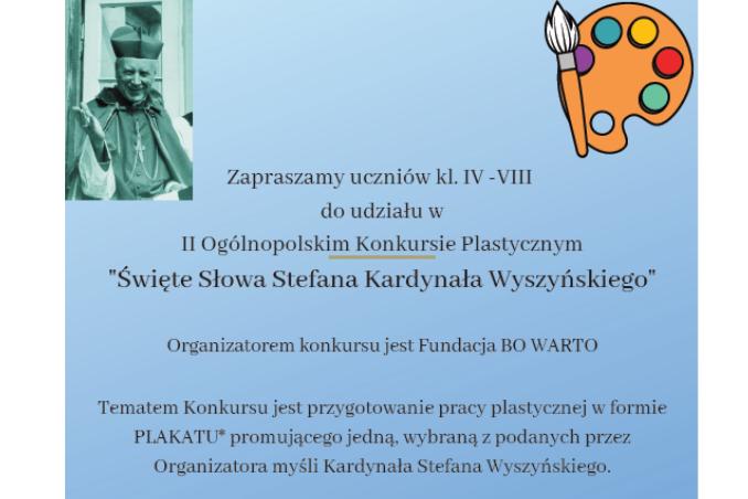 """Konkurs """"Święte słowa Stefana Kardynała Wyszyńskiego"""""""
