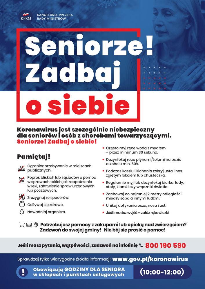 Plakat - Seniorze! Zadbaj o siebie
