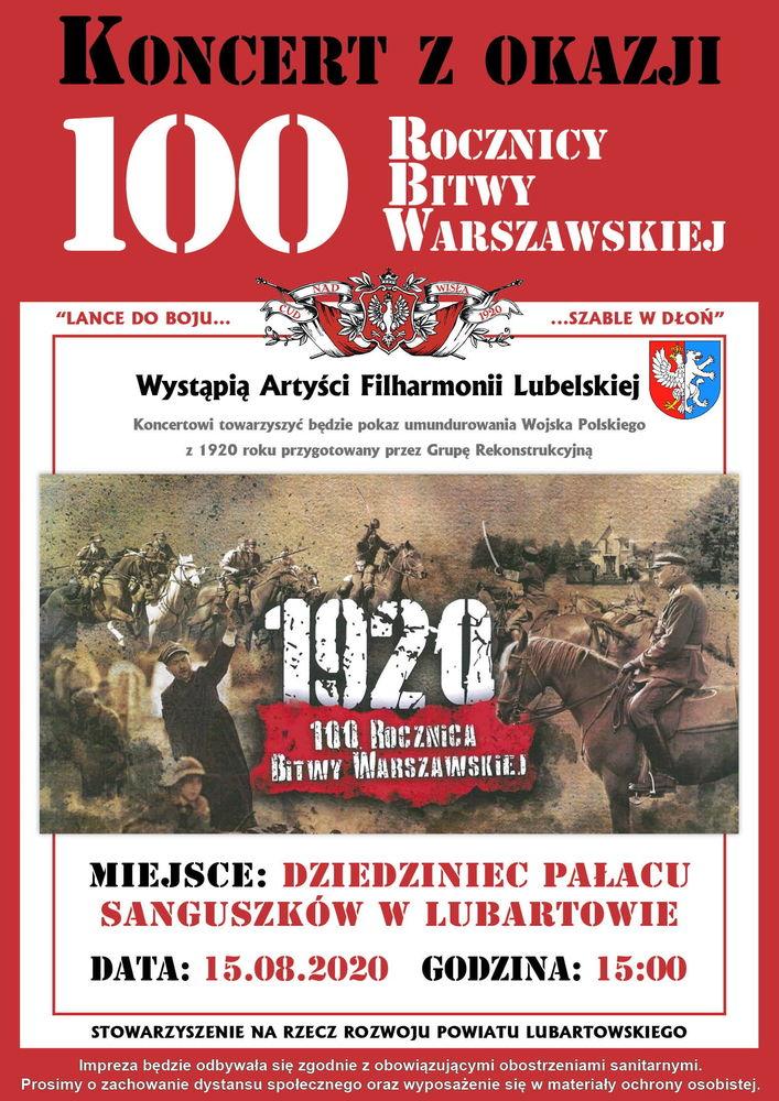 plakat 100 lecie bitwy warszawskiej