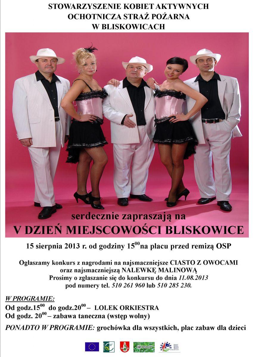 Plakat dni Bliskowic