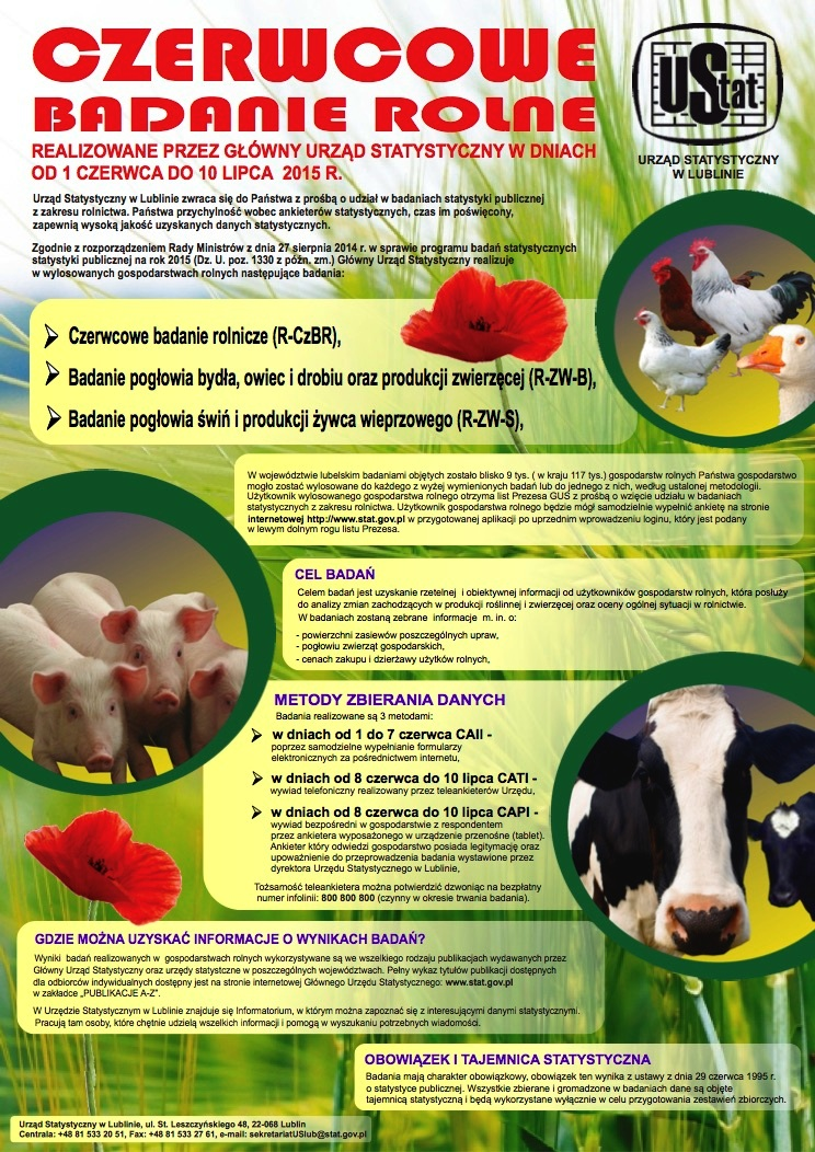 Badania rolne plakat