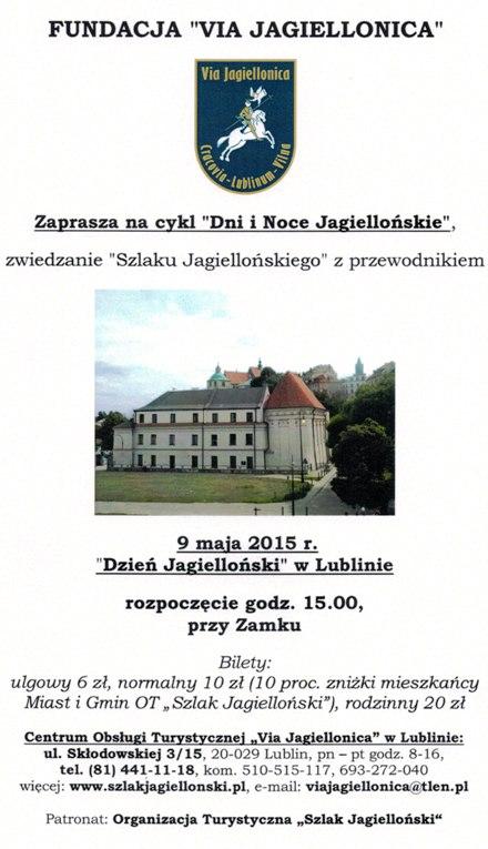 Dzień Jagielloński w Lublinie 9 maja 2015 r.