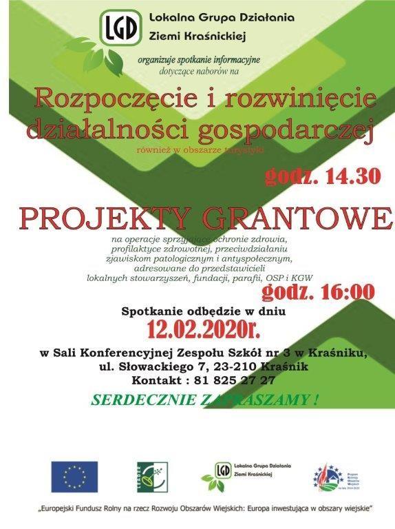 Plakat - Spotkanie informacyjne LGD