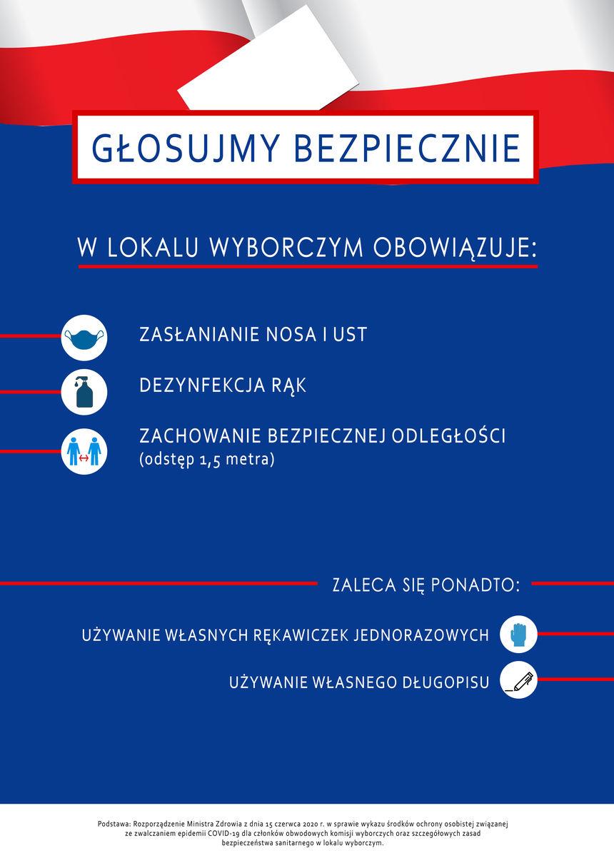 Plakat - Głosujemy bezpiecznie