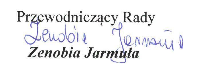 Podpis z napisem:
