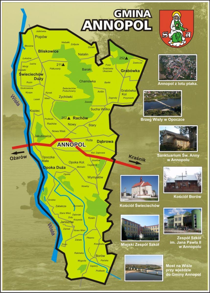 Mapa Gminy Annopol