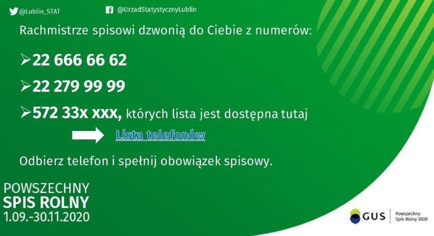 grafika informująca o numerach telefonów