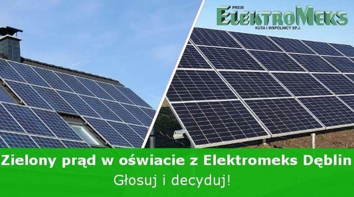 Grafika - Zielony prąd w oświacie z ELEKTROMEKS Dęblin – Głosuj i decyduj!