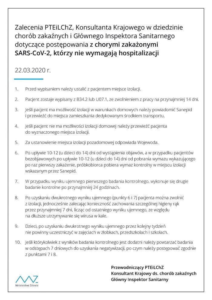 Plik jpg -Zalecenia PTEiLChZ, Konsultanta Krajowego w dziedzienie chorób zakaźnych, Głównego Inspektora Sanitarnego