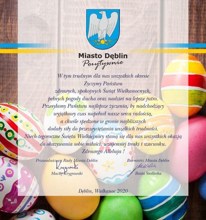 Plik jpg - Życzenia z okazji Świąt Wielkanocnych