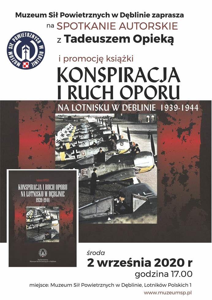 plakat promujący wydarzenie: spotkanie autorskie z Tadeuszem Opieką