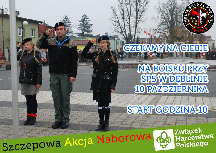 Szczepowa Akcja Naborowa ZHP- plakat
