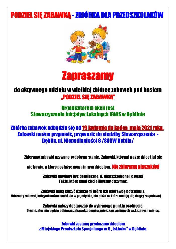Plakat z informacjami (informacje poniżej plakatu)