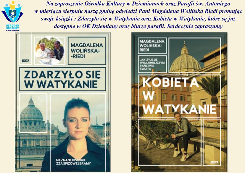 Spotkanie oraz promocja książek Pani Magdaleny Wolińskiej Riedi