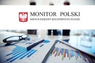 Logo Monitor Polski na białym tle. Pod tłem zdjęcie.