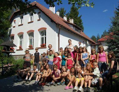 Zdjęcie dzieci podczas zielonej szkoły