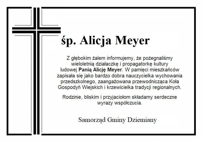 Ostatnie pożegnanie P.  Alicji Meyer
