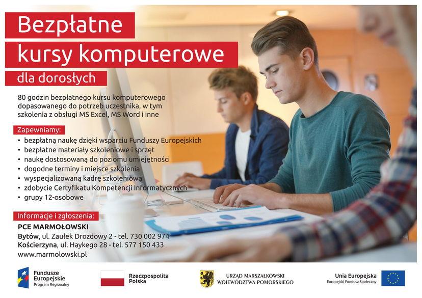 Bezpłatne Kursy Komputerowe dla osób dorosłych