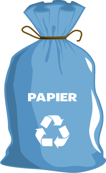 Grafika Worek niebieski z napisem papier