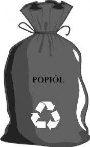 Grafika Worek czarny z napisem popiół