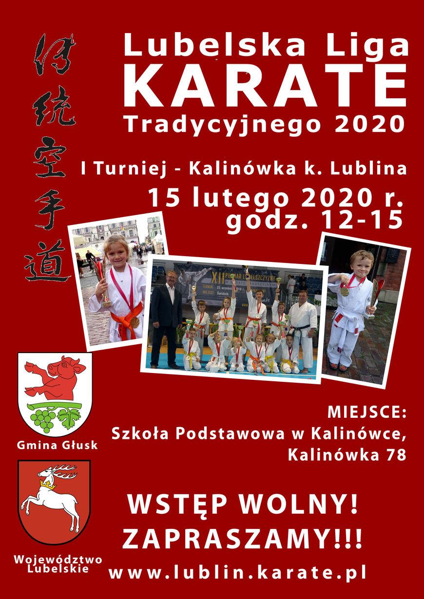 Plakat - Lubelska Liga Karate Tradycyjnego 2020