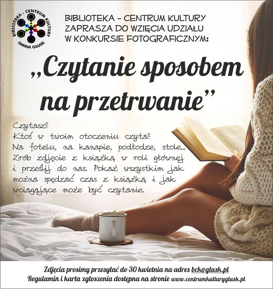 Plakat - Czytanie sposobem na przetrwanie