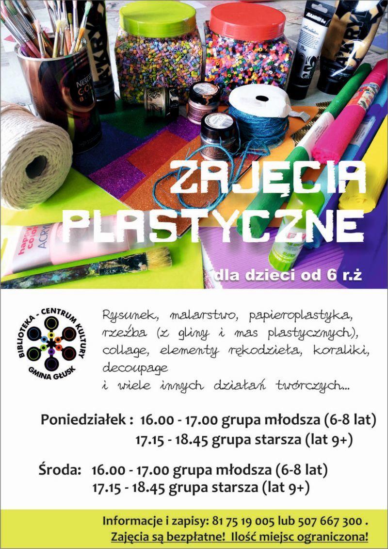 Plakat Zajęcia plastyczne