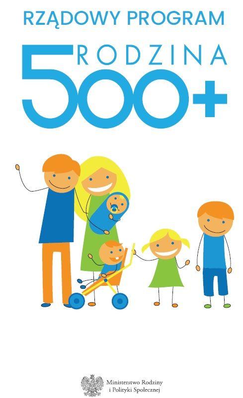 logo  RZĄDOWY PROGRAM 'RODZINA 500+ Ministerstwo Rodziny i Polityki Społecznej