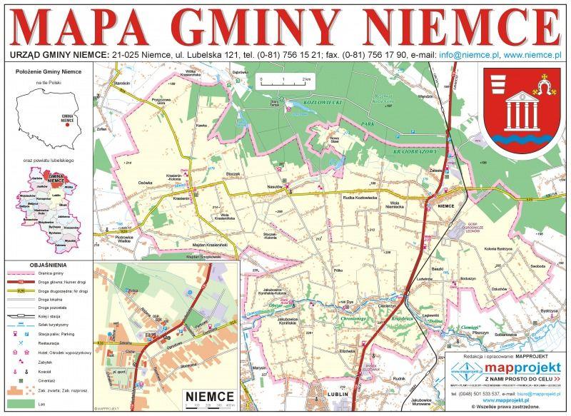 Mapa gminy Niemce