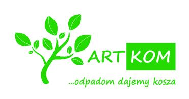 Logo ArtKOM odpadom dajemy kosza