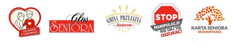 Baner z logotypami:
