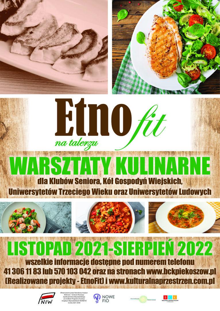 Plakat warsztaty kulinarne