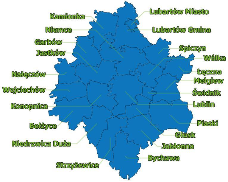 Mapa Obszaru LOM