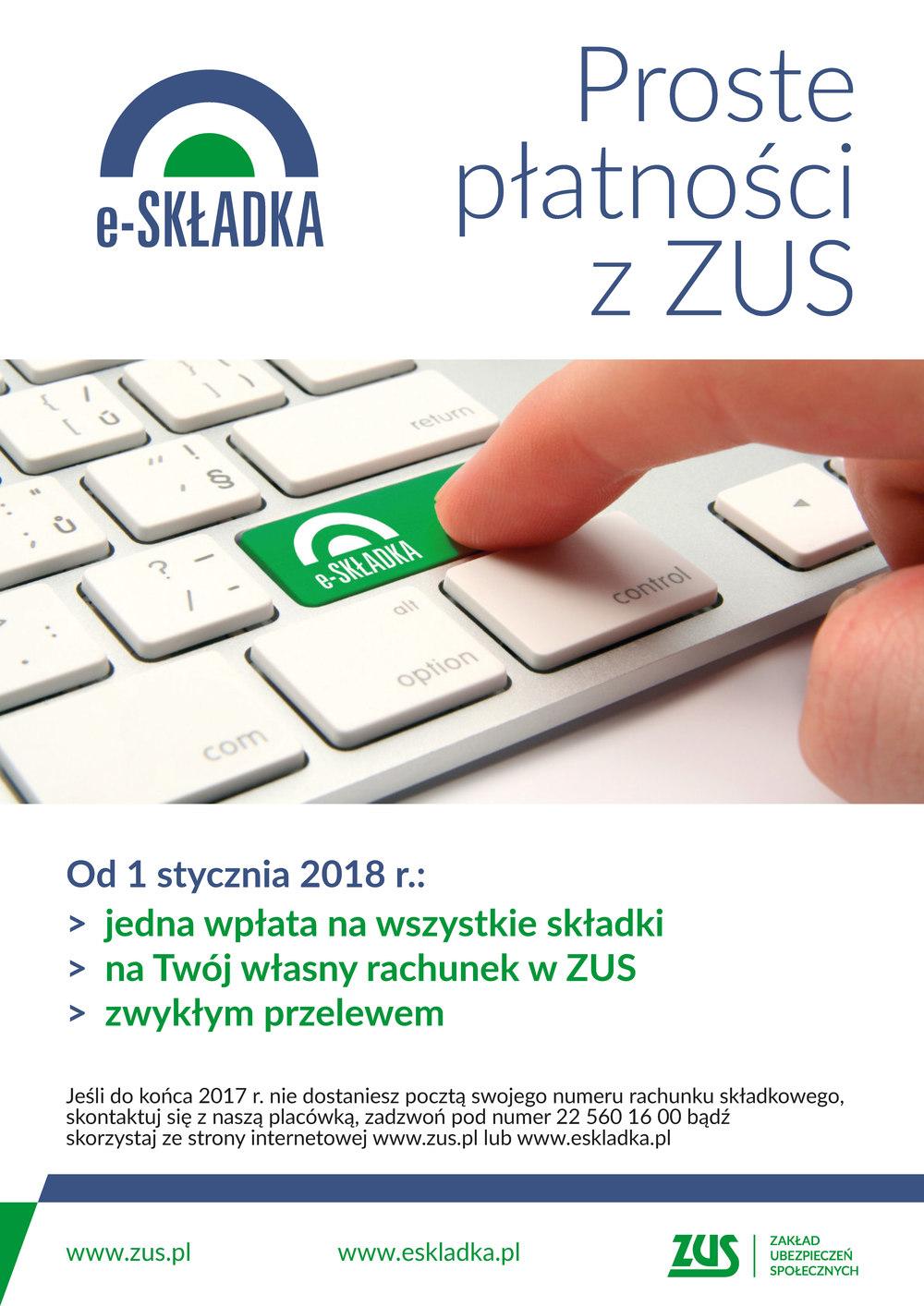 E-Składka Plakat