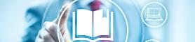 Grafika ikona książka ikona komputer na rozmytym tle