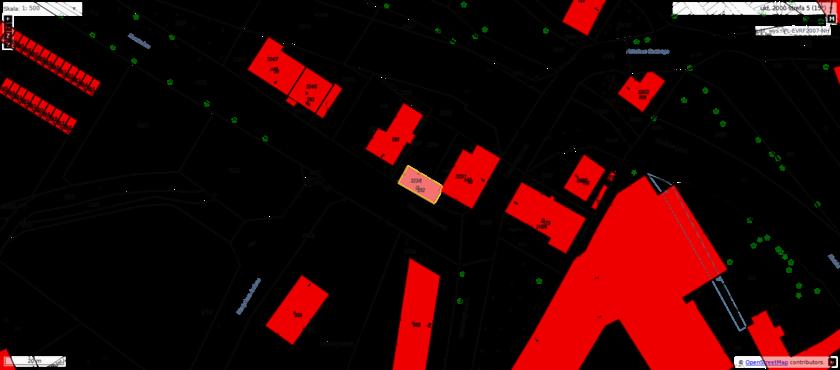 Mapa z lokalizacją działki