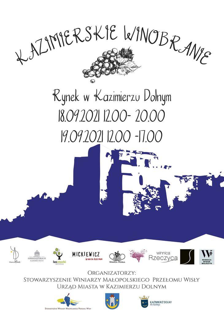 Plakat kazimierskiego winobrania