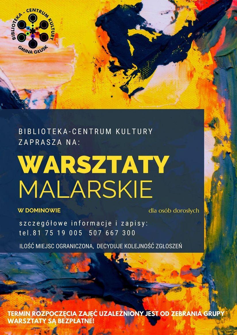 Plakat warsztaty malarskie