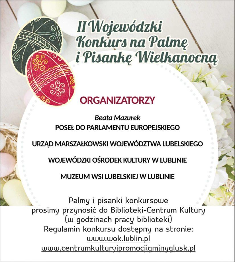 Plakat II Wojewódzki Konkurs na Palmę i Pisankę Wielkanocną