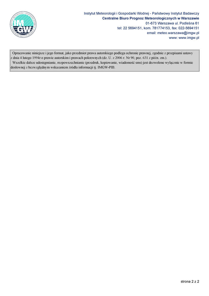 prognoza niebezpiecznych zjawisk meteorologicznych s. 2