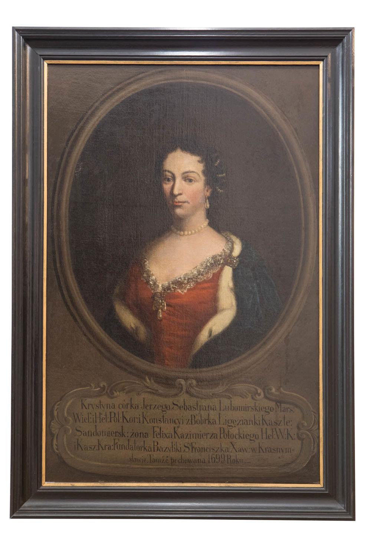 Krystyna Anna z Lubomirskich Potocka  - Olej na płótnie, XVIII wiek