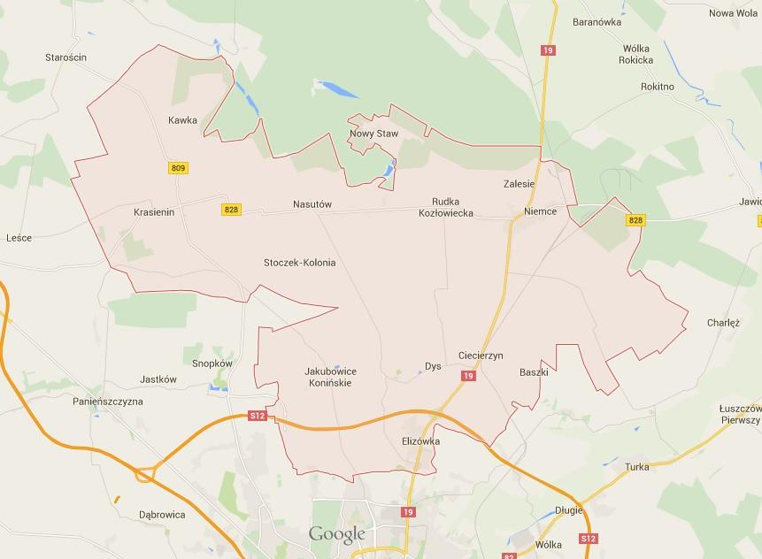 mapka gminy