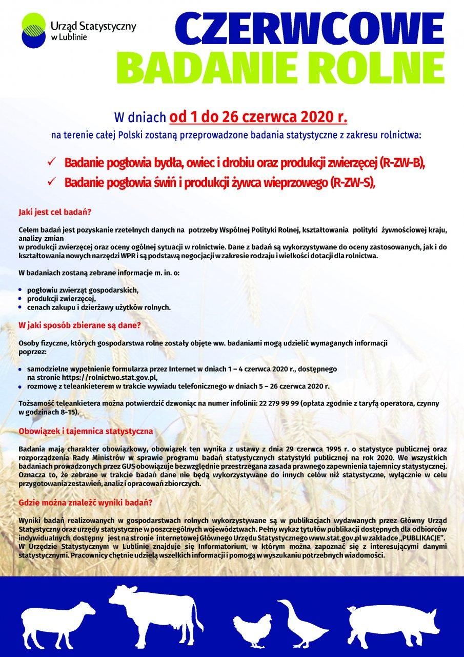 Plakat w formie graficznej z informacjami z Aktualności