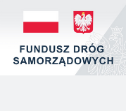 Flaga i godło Polski - Logo Napis Fundusz dróg samorządowych