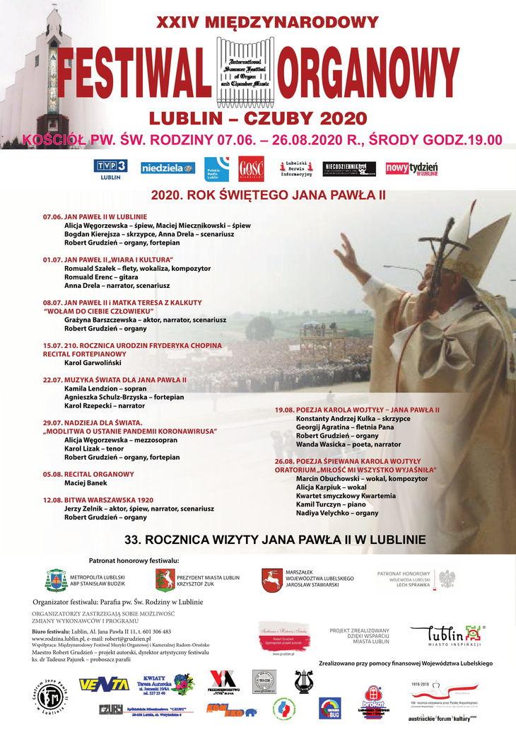 plakat festiwalu organowego