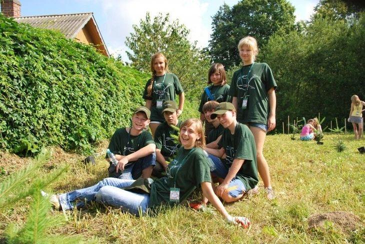 Grupa z Rosji podczas Modziezowego Obozu Workcamp