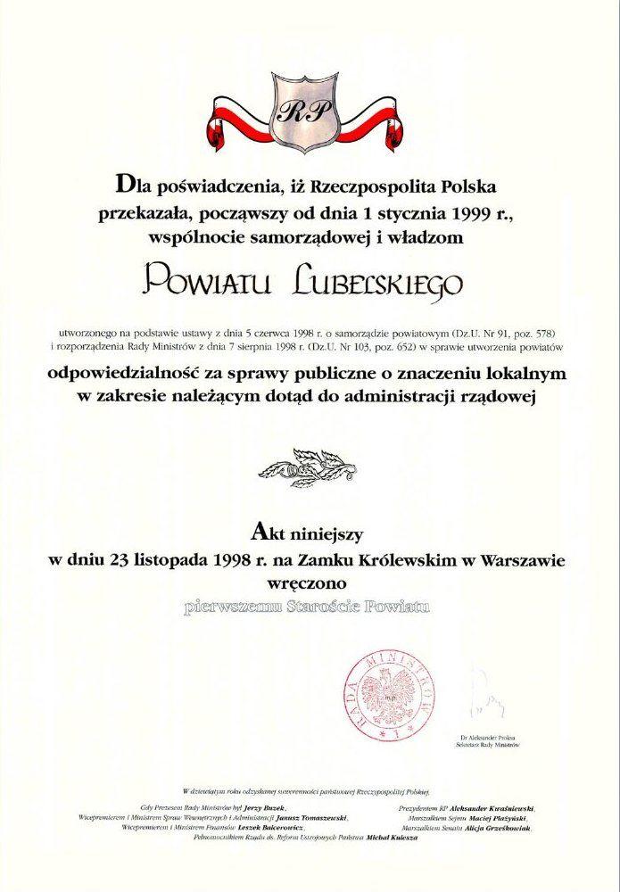 Graficzny akt erekcyjny Powiatu Lubelskiego